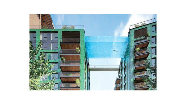 英国的空中泳池太漂亮了